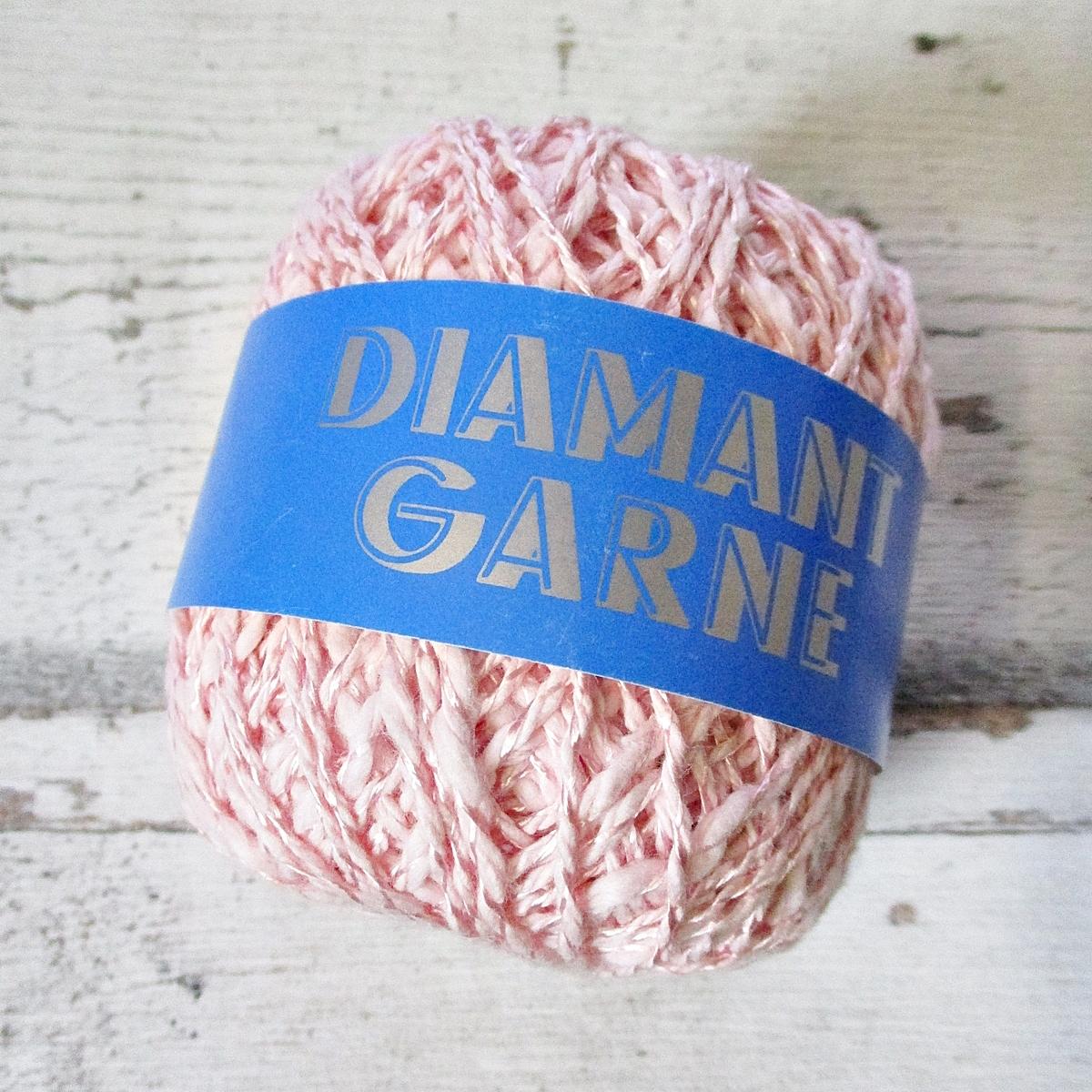 Wolle Diamantgarn Farbe_2033 rosa 66umwolle 34%Viskose Seidenglanz