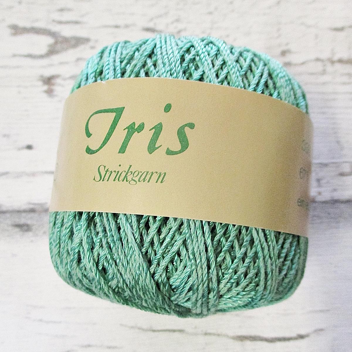 Wolle Strickgarn Iris 67%Viskose 33umwolle Farbe_14 grün - Woolnerd