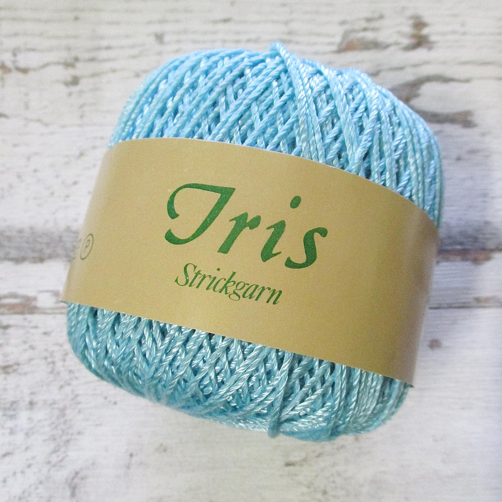 Wolle Strickgarn Iris 67%Viskose 33umwolle Farbe_7 eisblau - Woolnerd